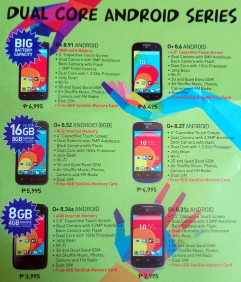 O+ USA Dual Core Android Phones Line up for 2014