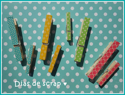 Scrap Washi pinzas