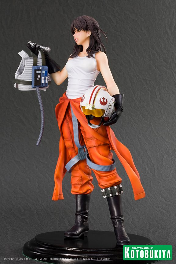 Jaina Solo Bishoujo Statue   Star wars rogue squadron