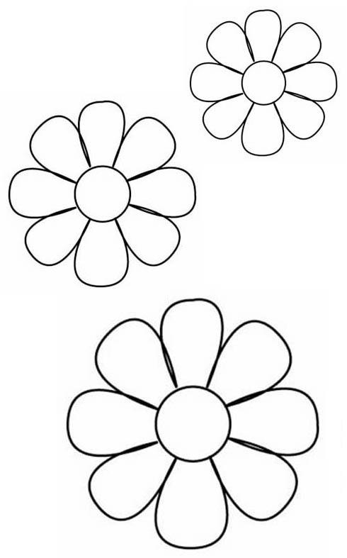Flores de fomi con moldes gratis - Imagui