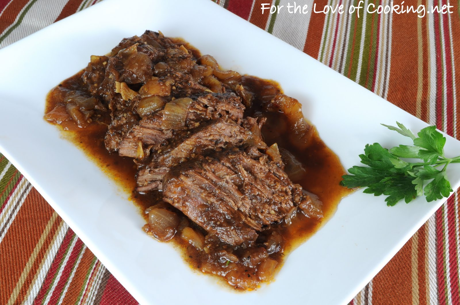 Balsamic and Onion Pot Roast | For the Love of Cooking