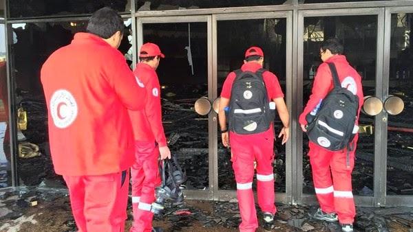 حريق هائل بأرض المعارض في منطقة مدينة نصر 4/3/2015