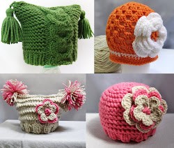 Mis tutoriales  gorros para bebes (click en imagen)