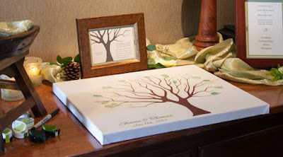 Tree of life and love guestbook - Wedding ceremony officiated by Kent Buttars, Seattle Wedding Officiant