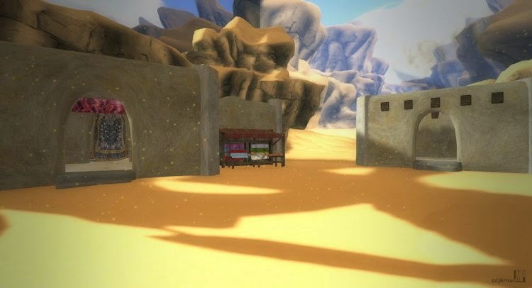 Second Life review of a virtual home made for the desert.