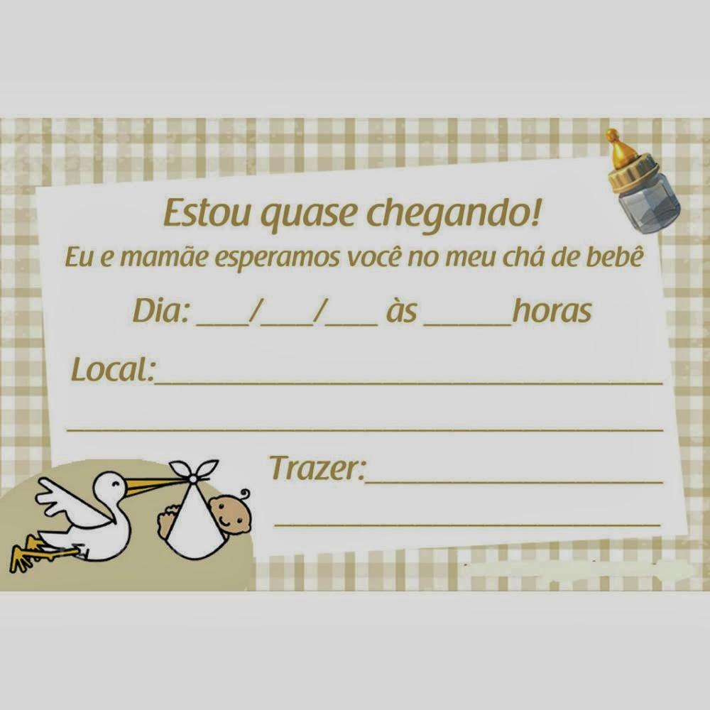 Convite para chá de bebê online 2