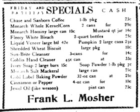 Frank L. Mosher 1940 Ad