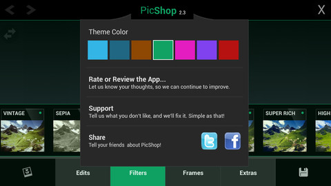 how to use picshop on android