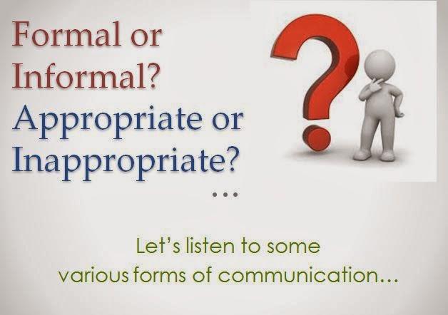 English and ESOL Lab Workshops: Formal and Informal Communication ...