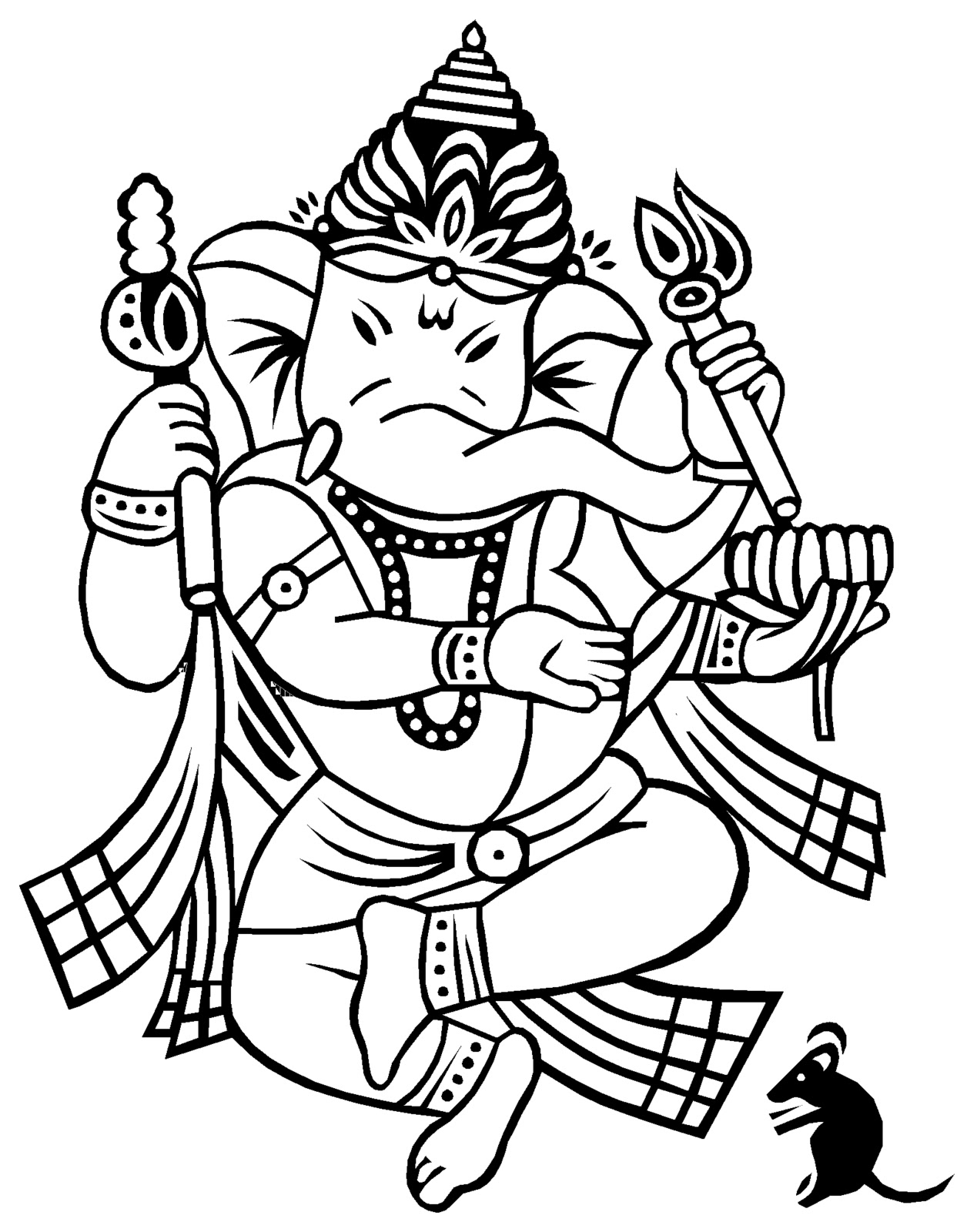 Ganesh Line Drawing : Best collection store sri ganesh