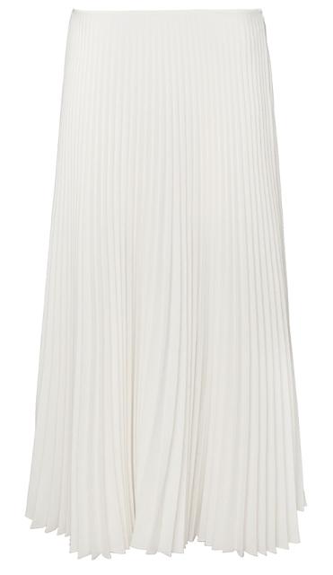 Rebajas SS 2015 fondo de armario falda plisada midi blanca