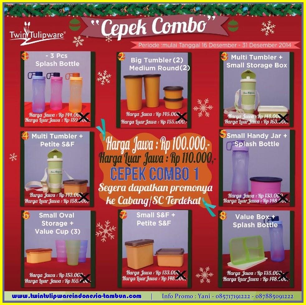 Promo CEPEK COMBO 1 Tulipware Desember 2014