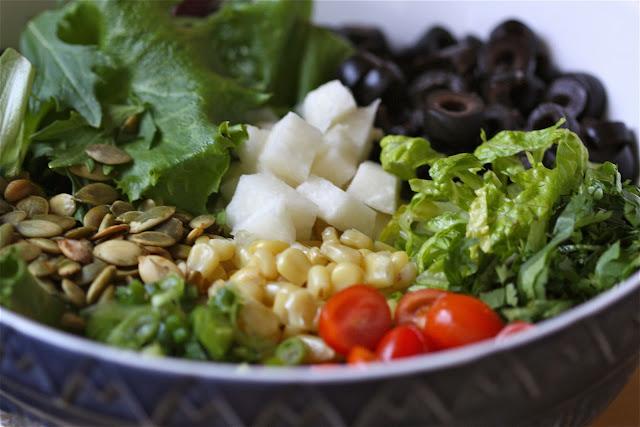 savory nest: Tostada Salad... Salad {with Avocado-Cilantro ...