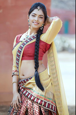 Sanchita Padukone hot navel show stills