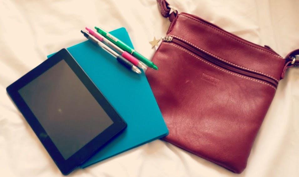 Mia Tui Lottie Claret Bag Notebook Paper Pens Purse Water