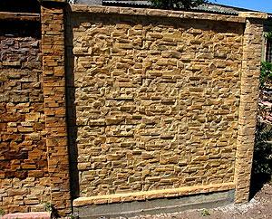 Каменный забор. Фото 32