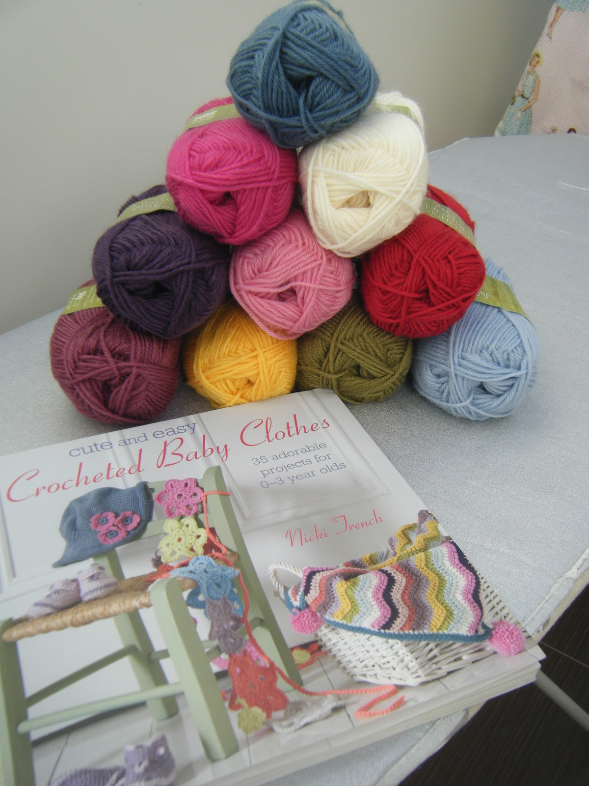 Nicki Trench gorgeous book and King Cole wool