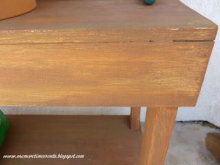 Creating wood grain finish with paint at One More Time Events.com