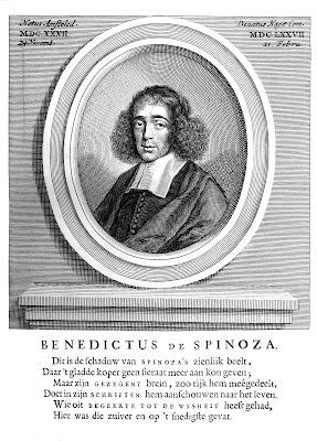 Benedictus de Spinoza; portret uit de Nagelate Schriften (1677)
