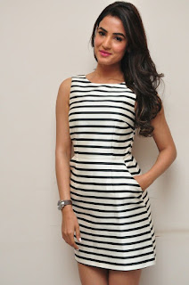 Actress Sonal Chauhan  Pictures in Short Dress at Pandaga Chesko Interview  0015