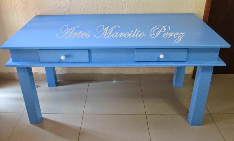 Mesa Azul, rosa, amarela, verde, lilas etc