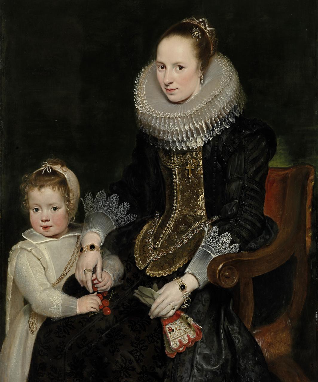 A aparência poderosa da Vida: Mãe de Cornelis de Vos e criança