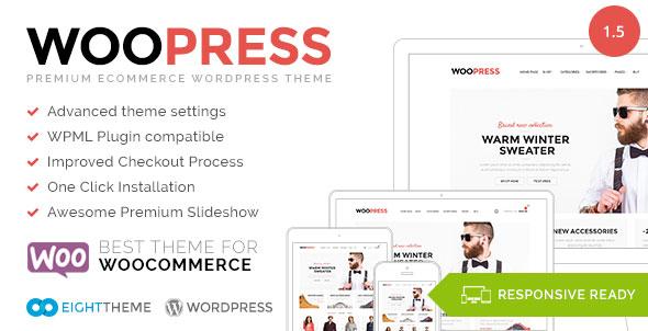 WooPress v1.5 – Responsive Ecommerce WordPress Theme
