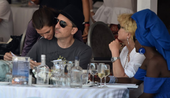 Charlotte Casiraghi and Gad Elmaleh attend the jumping competition