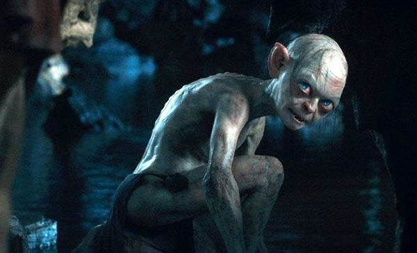 Andy Serkis as Gollum The Hobbit 2012 movieloversreviews.blogspot.com
