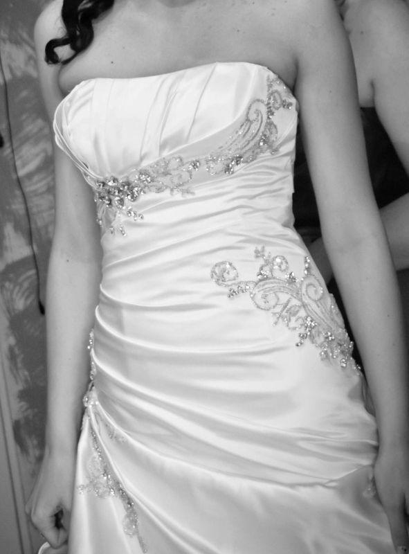 Suknie ślubne Vestido Suknia ślubna Tafta Satynowa Fason Rybka