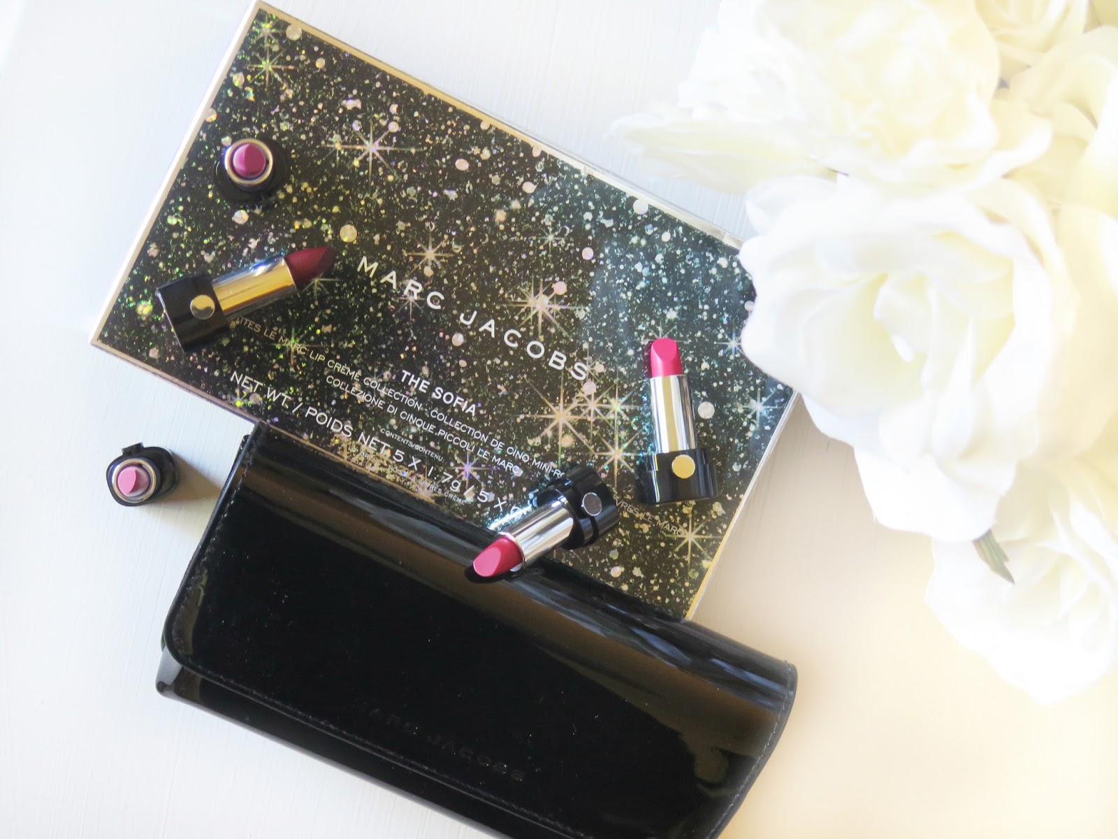 Marc Jacobs La Sofia Petites Le Marc Lip Creme Collection For Holiday 2015 | Review & Swatches | 5 Mini Le Marc Lip Cremes | labellesirene.ca
