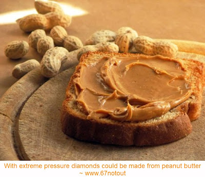 Peanut butter can be made into diamonds