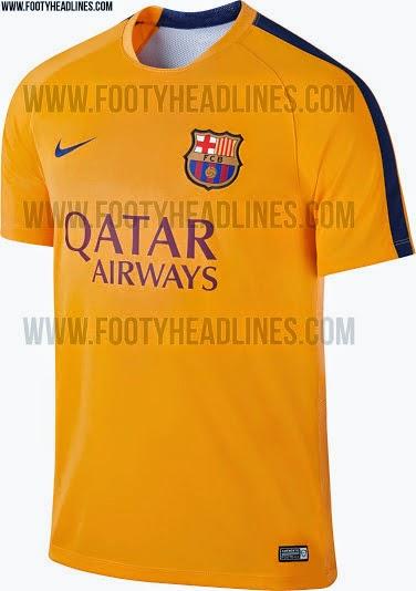 gambar jersey prematch terbaru Barcelona musim depan 2015/2016 kualitas grade ori made in thailand