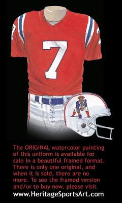 New England Patriots 1985 uniform