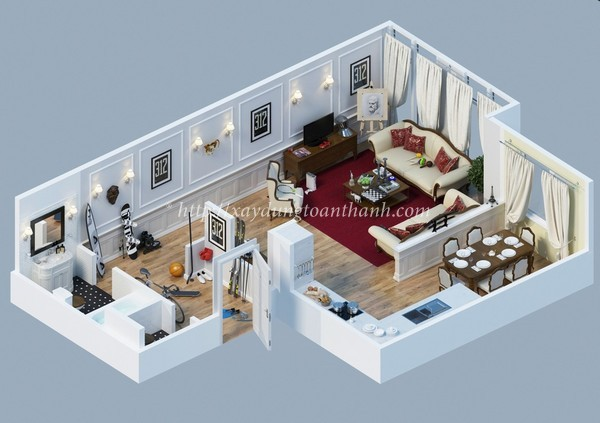 bản vẽ thiết kế khi sửa nhà chung cư