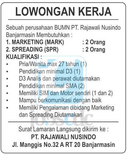 Lowongan Kerja Bandung Operator Produksi