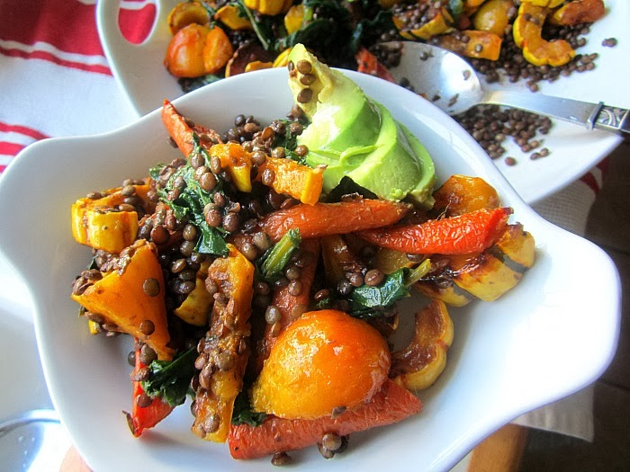 Stacey Snacks: Fall Salad: Lentils & Roasted Root Vegetables