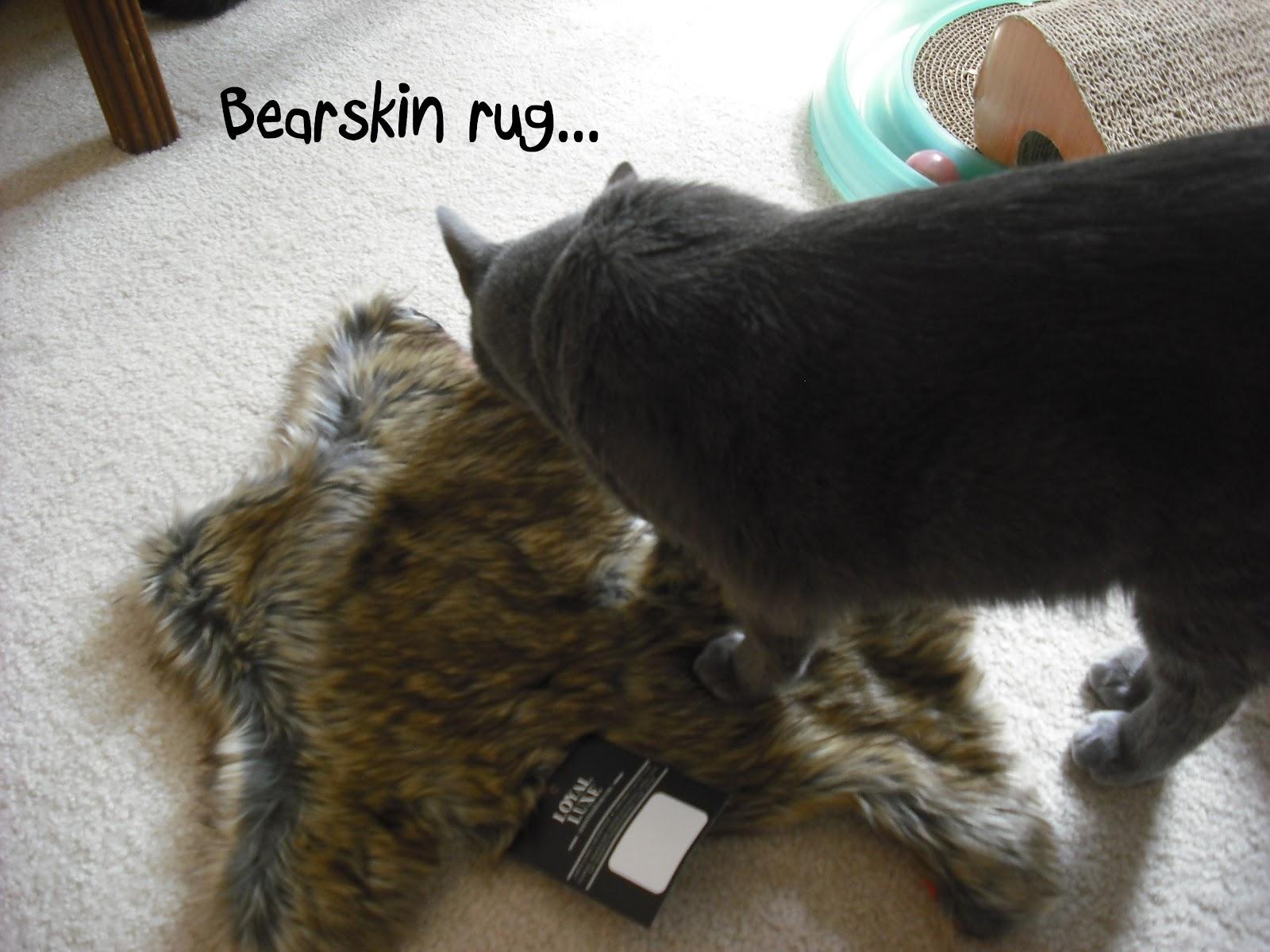 Faux Bearskin Rug.