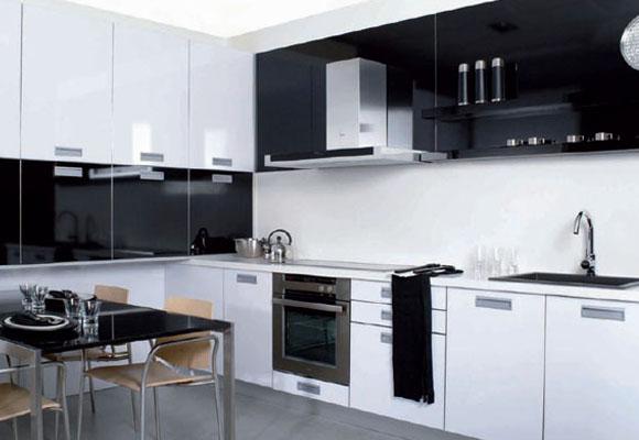 Mi casa mi hogar cocinas modernas en blanco y negro - Cocina blanco y negro ...