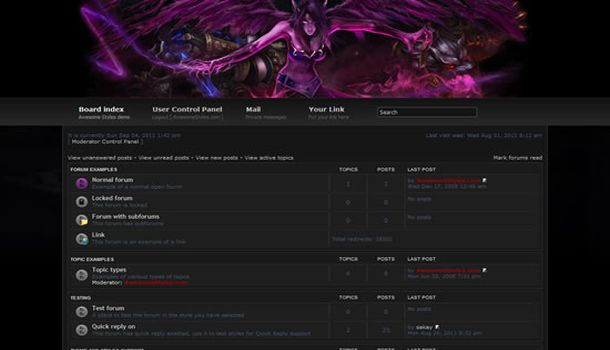 Free Dominion League Games Phpbb Theme Template