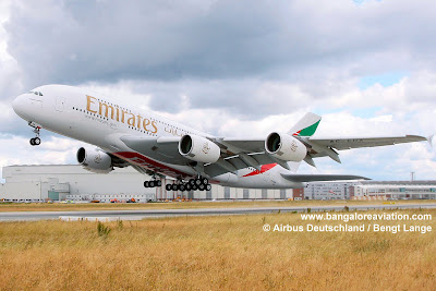 Emirates A380 A6-EDA take off high resolution