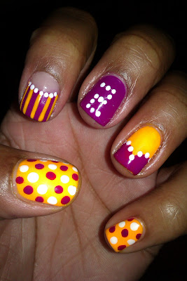 Lakers, purple and gold, Derek Fisher, nail art, mani