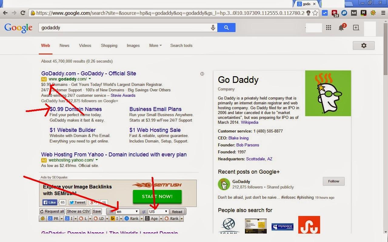 كيف تشتري موقع .com ب 0,99 دولار من Godaddy بدل 13 دولار 99domain.bmp