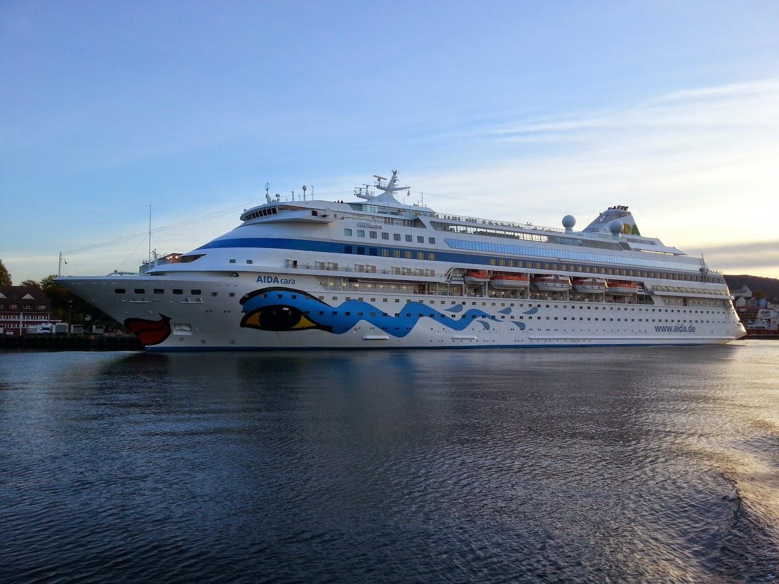 Cruise Ship AIDAcara in Bergen, Norway