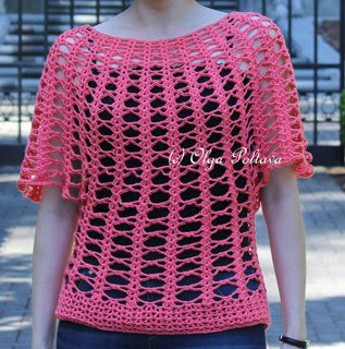 Crochet Lace Summer Top Pattern, Size Small (4-6), $3.75