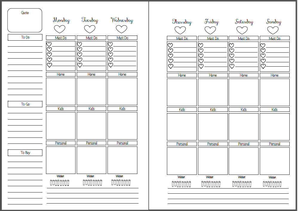 image relating to Free Printable Planners identify MsWenduhh Building Printable: No cost Printable Inserts