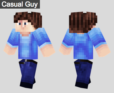 10. Casual Guy Skin