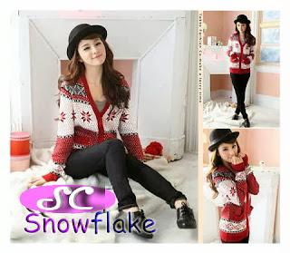grosir baju rajut model snow flake