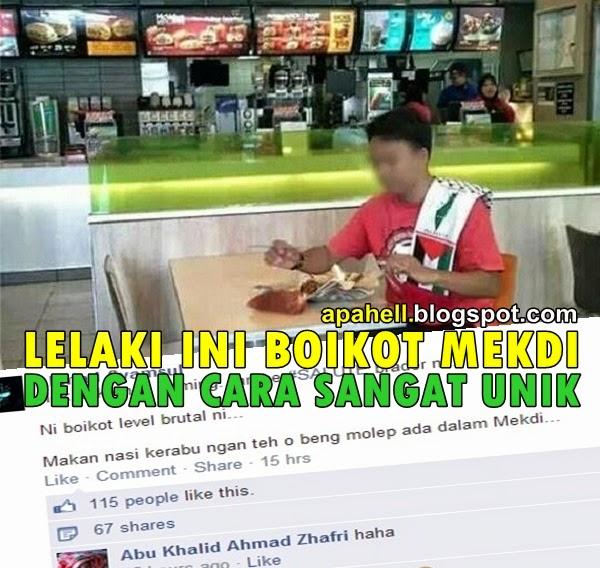 Lelaki Ini Memboikot McDonalds Dengan Cara Yang Gempak Habiss (2 Gambar)