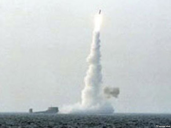 Bulava missile test launch